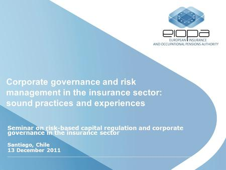 corporate governance in insurance sector pdf