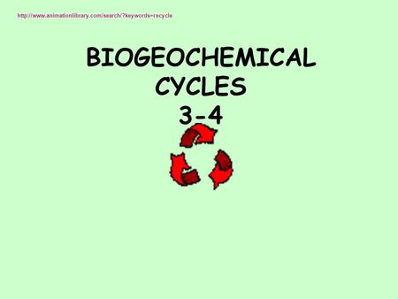 BIOGEOCHEMICAL CYCLES 3-4