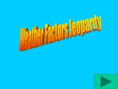Jeopardy Water CycleClouds Weather Vocab Weather Tools Energetic Earth 400 200 600 800 1000 200 400 600 800 1000 200 400 600 800 1000 200 400 600 800.
