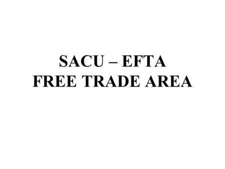 Sadc free trade protocol