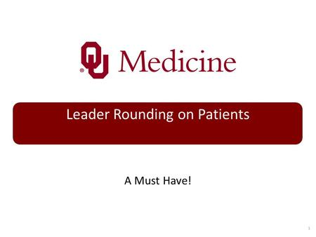 Leader Rounding on Patients