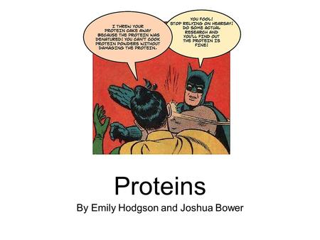 Proteins By Emily Hodgson and Joshua Bower. Primary structure The amino acid sequence.