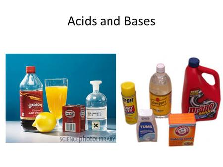 Acids and Bases. Arrhenius Acid & Base Which beaker contains a base?
