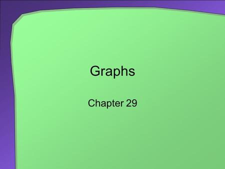 Graphs Chapter 29. 2 Chapter Contents Some Examples and Terminology Road Maps Airline Routes Mazes Course Prerequisites Trees Traversals Breadth-First.