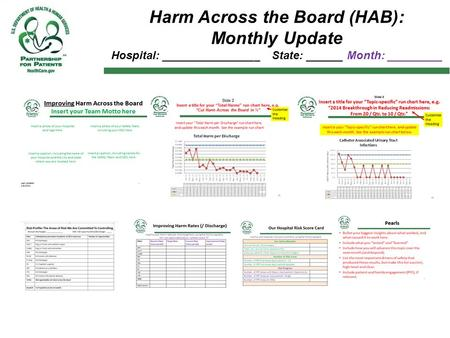 Harm Across the Board (HAB): Monthly Update Hospital: ________________ State: ______ Month: _________.
