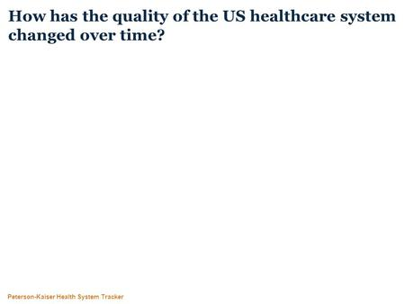 Peterson-Kaiser Health System Tracker How has the quality of the US healthcare system changed over time?