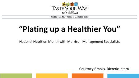 """Plating up a Healthier You"""