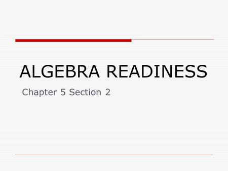 ALGEBRA READINESS Chapter 5 Section 2. 5.2: Add and Subtract Rational Numbers To add two rational numbers with the same sign, add them together and keep.