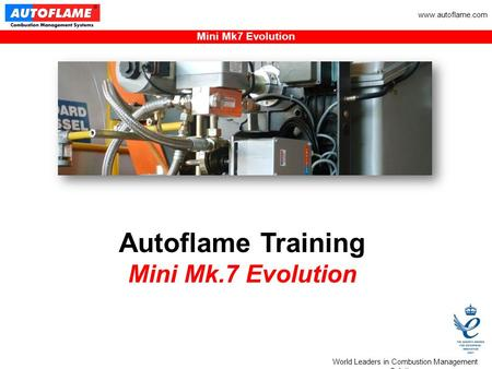 World Leaders in Combustion Management Solutions Mini Mk7 Evolution www.autoflame.com Autoflame Training Mini Mk.7 Evolution.