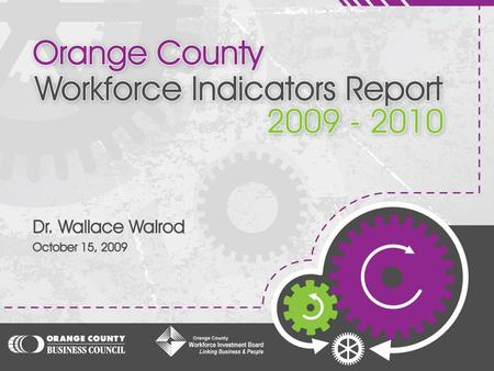 "Provide an annual ""State of the County"" benchmark of where the region is currently in terms of: Educational achievement of our students; Wages and employment."
