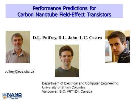 Performance Predictions for Carbon Nanotube Field-Effect Transistors