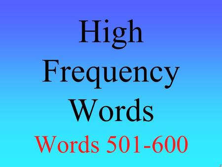 High Frequency Words Words 501-600 music buy window.