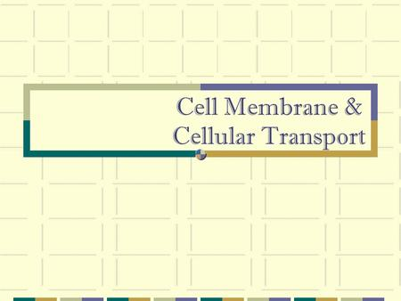 Cell Membrane & Cellular Transport. HOMEOSTASIS AND TRANSPORT Cell membranes help organisms maintain homeostasis by controlling what substances may enter.