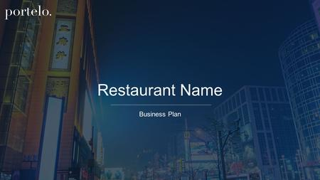 Restaurant Name Business Plan.