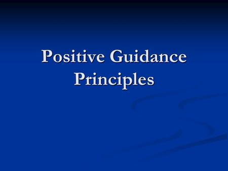 Positive Guidance Principles. Positive guidance concept - Provide drivers sufficient information about roadway design, operations, and potential hazards.