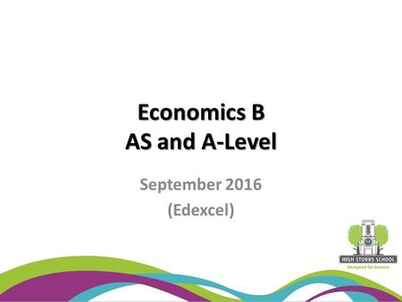 Economics B AS and A-Level September 2016 (Edexcel)