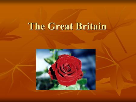 The Great Britain. Geographical position The UK of Great Britain and Northern Ireland is made up of England, Scotland, Wales and Northern Ireland. Area.