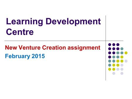 Learning Development Centre