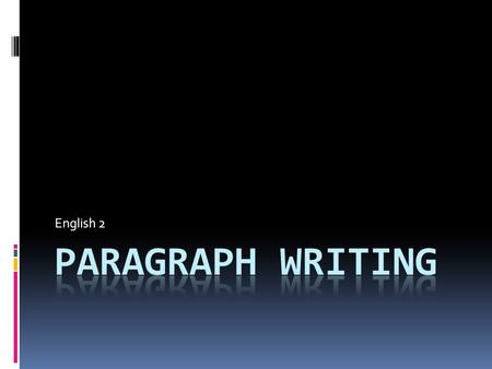 English 2. Paragraph Writing  Strong Writing  Format  Claim  Textual Evidence  Analysis  TIQA.