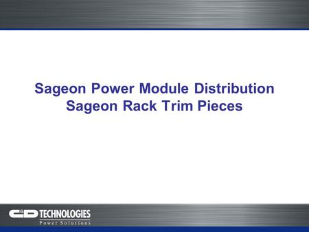 Sageon Power Module Distribution Sageon Rack Trim Pieces.