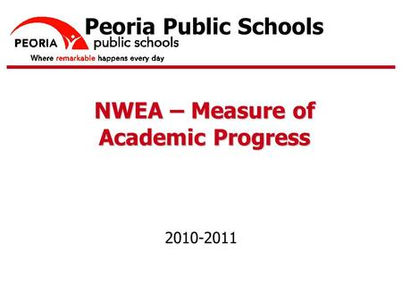 TM Peoria Public Schools NWEA – Measure of Academic Progress 2010-2011.