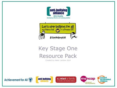 Key Stage One Resource Pack Created by Helen Lambie 2014.