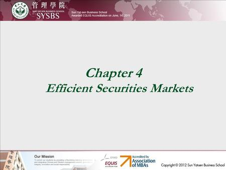 Chapter 4 Efficient Securities Markets. Priceline.com Priceline.com1999-2000 各季度利润(单位:百万美元) Priceline.com1999-2000 各季每股股价(单位:美元)