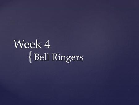 { Week 4 Bell Ringers.  What evidence from the video indicates that there are differing opinions on the outcome of Egypt's 2011 revolution? How would.