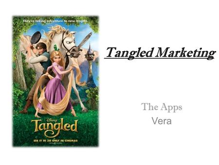 Tangled Marketing The Apps Vera. Product Product –The Apps -Themes, - Skins, - Games -Songs. -DVDs, -CDs.