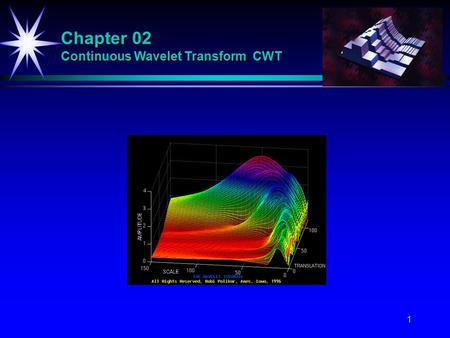 1 Chapter 02 Continuous Wavelet Transform CWT. 2 Definition of the CWT The continuous-time wavelet transform (CWT) of f(t) with respect to a wavelet 