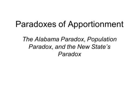 apportionment world population and hamilton method 2009-4-18 historical annual population of the united states  census vs apportionment population  appendix 1 provides a detailed description of the interpolation method.