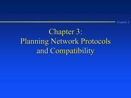 chapter 2 network infrastructure plan Design, install and maintain a reliable network infrastructure as companies get  more sophisticated about networking, they'll build reliable.