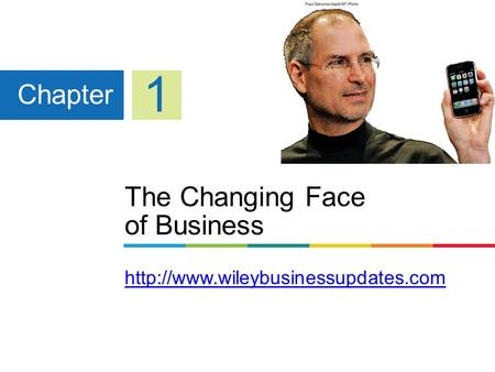 The Changing Face of Business   Chapter 1.