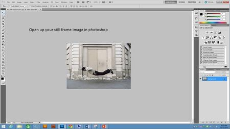 Open up your still frame image in photoshop. Create a copy of the Background copy.