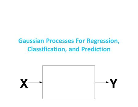 Gaussian Processes For Regression, Classification, and Prediction.
