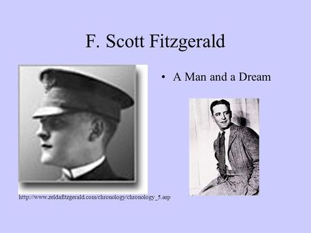 F. Scott Fitzgerald A Man and a Dream