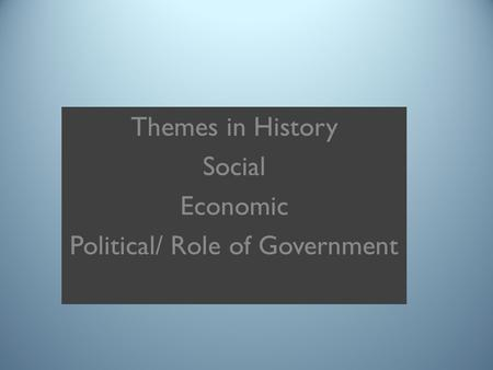 role of government as a socializing