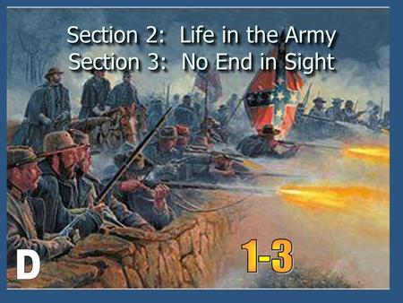 Section 2: Life in the Army Section 3: No End in Sight.