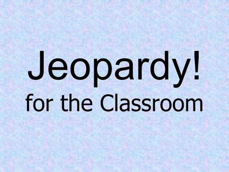 Jeopardy! for the Classroom. Real Numbers Complex Numbers Polar Equations Polar Graphs Operations w/ Complex Numbers C & V 100 200 300 400 500.