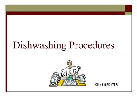 Dishwashing Procedures