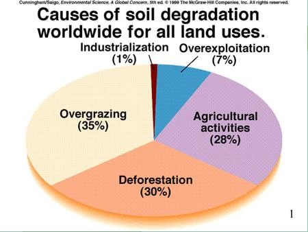 1 1. 2 Soil Resources and Sustainable Agriculture Ways We Use and Abuse Soil –Erosion Other side effects of Agriculture Toward Sustainable Agriculture.