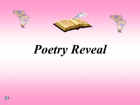 Poetry Reveal 1 16 2 1718 3 241525 142322 111213 4 19 20 21 109 8 7 6 5.