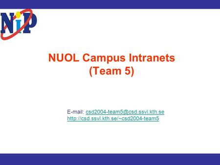 NUOL Campus Intranets (Team 5)