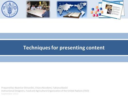 Techniques for presenting content