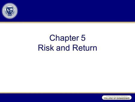 risk return relationship says you