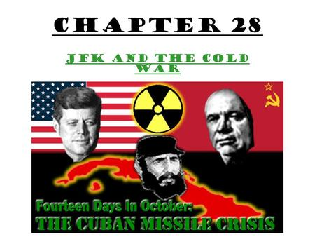 Chapter 28 JFK and the Cold War. The 1960 Campaign The Republican Party Nominates former Vice President Richard Nixon. The Democratic Party Nominates.