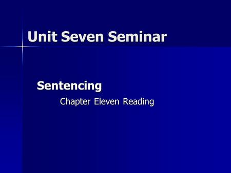 Sentencing Chapter Eleven Reading