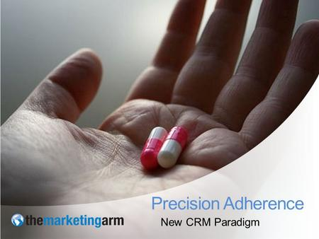 New CRM Paradigm Precision Adherence. Patients don't take their drugs 32 million Americans use three or more medicines daily. 75% of adults are non-adherent.
