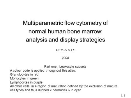 Multiparametric flow cytometry of normal human bone marrow:
