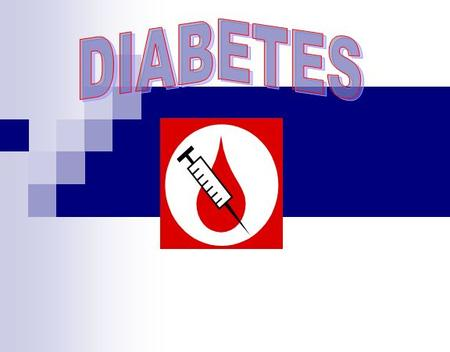 What Is Diabetes?  A disorder of the pancreas -The pancreas stops making insulin, an essential hormone in the body.  Insulin is the key that allows.